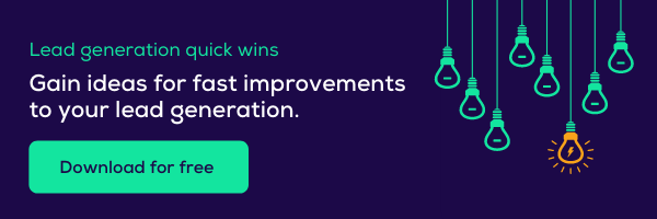 Gain ideas for lead generation quick wins. Download now.